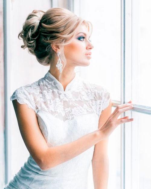 Стрижки и прически для невест на длинные волосы