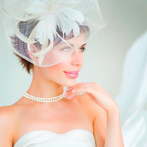 Варианты причесок и стрижек на короткие волосы для невест