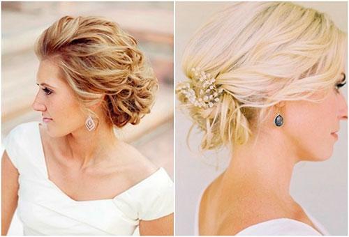 Варианты причесок и стрижек на средние волосы для невест