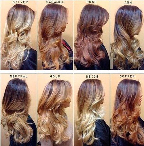 Варианты и виды окрашивания длинных волос