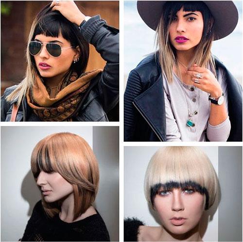 Окрашивание женских средних волос