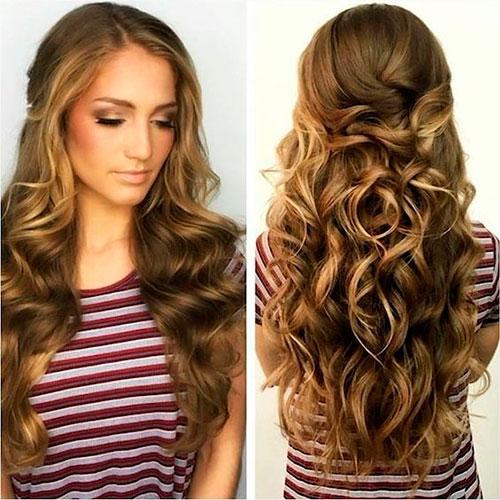 Женская укладка длинных волос